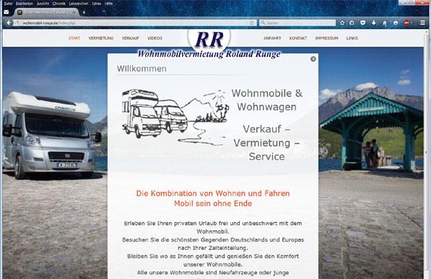 Motorhome sale & renting Runge